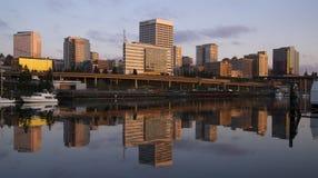 大厦高架桥基础设施西娅Foss水路塔科马Washi 库存照片