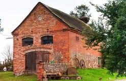 大厦,砖,历史,家庭,土气,国家,围场,农场 库存照片
