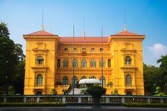 大厦,越南总统办公室,中央Ha Noi,由法国建筑师建筑 免版税库存图片