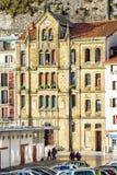 大厦,巴斯克国家,圣塞瓦斯蒂安,西班牙Fascade  免版税库存图片