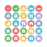 大厦&家具传染媒介象11 免版税图库摄影