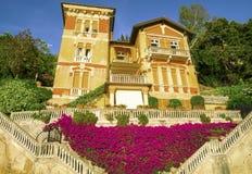 大厦建筑学在Levanto,意大利 库存照片