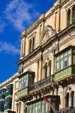 大厦建筑学,瓦莱塔马耳他 免版税库存图片