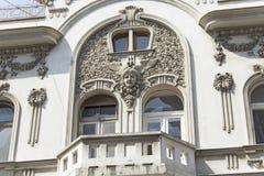 大厦细节在艺术Nouveau样式的 库存图片