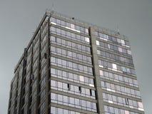 大厦细节在街市的商业区。 免版税库存照片