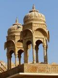 大厦细节, Jaisalmer堡垒 免版税库存照片