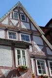 大厦celle半木料半灰泥的德国 库存照片