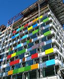 大厦colorfull 库存照片