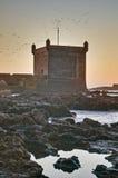 大厦essaouira堡垒mogador摩洛哥 库存图片