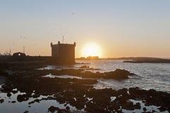 大厦essaouira堡垒mogador摩洛哥 图库摄影