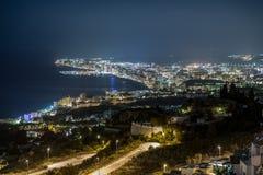 大厦kyiv晚上乌克兰 免版税库存图片