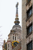 大厦lomonosov主要莫斯科州立大学 俄国 库存图片