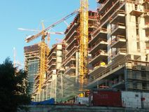 大厦Luxary塔在特拉唯夫 库存照片