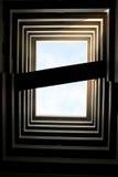 大厦siluate 免版税库存图片