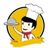 大厨徽标 免版税库存图片