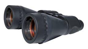 大双筒望远镜黑色查出在白色 免版税图库摄影