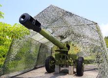 大口径短程高射炮 库存图片