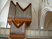 大古典管风琴在教会里 库存照片
