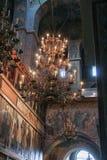 大古铜色枝形吊灯索菲娅大教堂 免版税库存图片