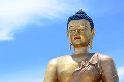大古铜色菩萨在廷布 图库摄影