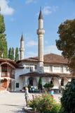 大可汗清真寺在可汗的宫殿,克里米亚 免版税库存照片