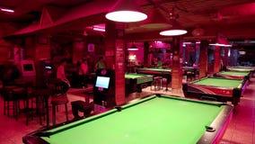 大台球俱乐部在芭达亚,泰国 股票录像