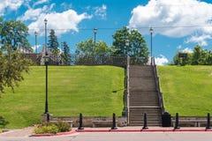 大台阶在方铅矿城市 库存照片