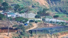 大叻高地风景在越南 免版税库存图片
