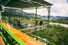 大叻,越南- 2017年2月17日:从我的好的风景视图Linh咖啡,大叻市,越南 图库摄影