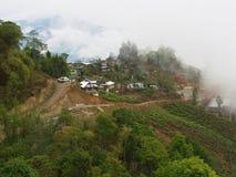 大吉岭,印度, 2011年4月15日:从cabl的鸟瞰图 库存图片