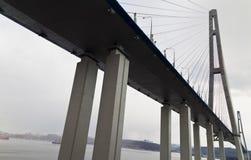 大吊桥 库存照片