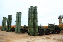 大和中程C-400 Triumf俄国防空导弹系统在塞瓦斯托波尔 免版税图库摄影