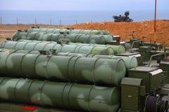 大和中程C-400 Triumf俄国防空导弹系统在塞瓦斯托波尔 库存照片