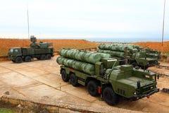 大和中程C-400 Triumf俄国防空导弹系统在塞瓦斯托波尔 免版税库存图片