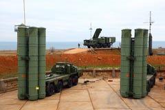 大和中程C-400 Triumf俄国防空导弹系统在塞瓦斯托波尔 库存图片
