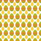 大和小复活节彩蛋的无缝的样式 免版税图库摄影