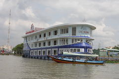 大和小船在越南 免版税库存图片