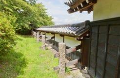 大和郡山城堡,日本土制墙壁  免版税库存照片