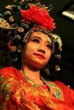 大唐芙蓉园的舞蹈家在羡 库存图片