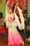 大唐芙蓉园的舞蹈家在羡 库存照片