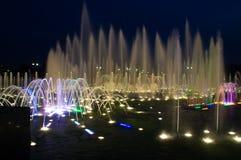 大喷泉在Tsaritsyno公园,莫斯科。俄罗斯 免版税库存照片