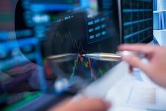 大图形市场计算股票 免版税图库摄影