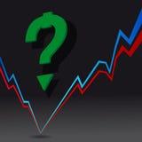 大图形市场计算股票 库存图片