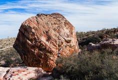 大圆的岩石 免版税库存图片