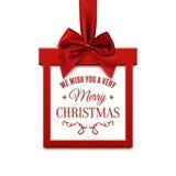 大圣诞节销售,方形的横幅以礼物的形式与 向量例证
