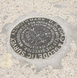 大地测量标志 图库摄影