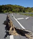 大地震由几米移动半新西兰北部 免版税库存图片