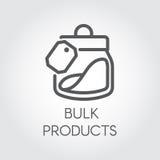 大块产品象 烹调法概念 在线型的简单的商标或按钮图画 也corel凹道例证向量 库存例证