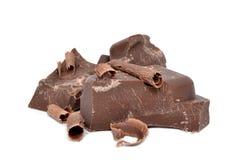 大块巧克力 库存照片