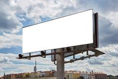 大块板有城市全景视图 库存照片